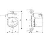 Бустер помпа Grundfos UPA 15-120  🟢 В наличност - UPA 15-120 dimensions