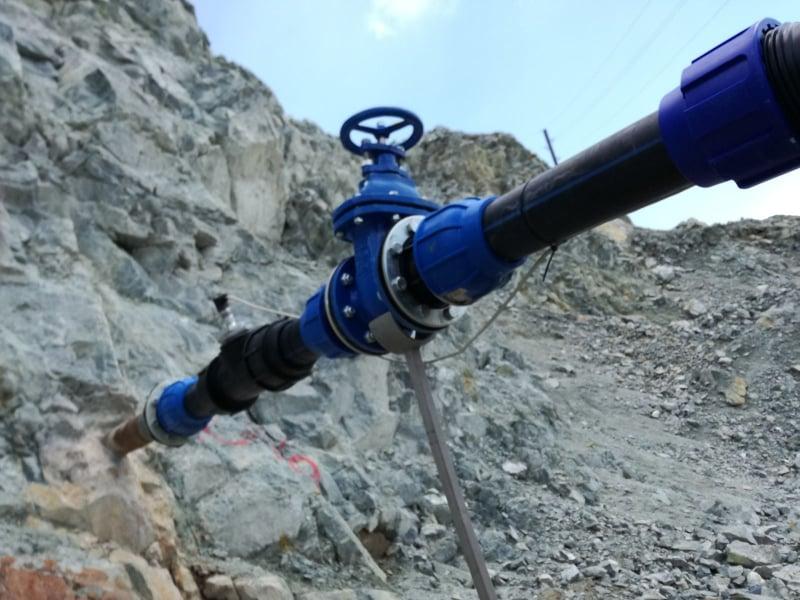 Отводняване на рудник Асарел