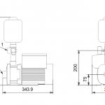 Хидрофорна система Grundfos CMBE 3 - 62  🟢 В наличност - изтеглен файл