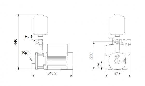 Хидрофорна система Grundfos CMBE 3 - 62  🟢 В наличност