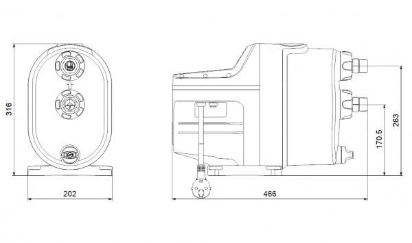 Бустер помпена система Grundfos SCALA1 3-35, 1 x 230 V  🟢 В наличност