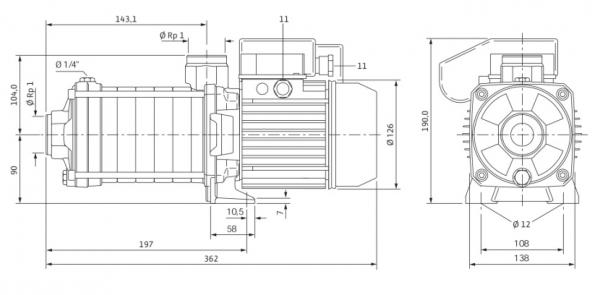 Wilo MHIL 104-E-1-230 V Многостъпална помпа  🔴 Доставка по заявка