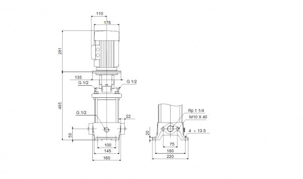Grundfos CR 5-9 A-A-A-E-HQQE 3x400V Многостъпална помпа  🔴 Доставка по заявка