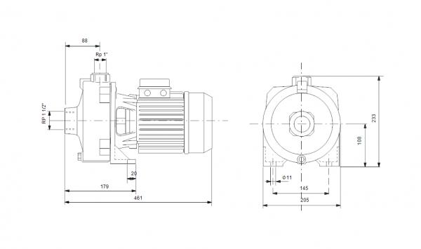 Grundfos NS 6-40 1x230V Центробежна хоризонтална помпа  🟢 В наличност