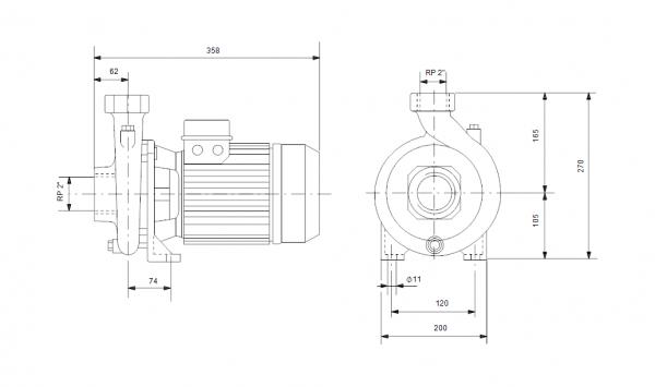 Grundfos NS 30-18 3x400V Центробежна хоризонтална помпа  🟢 В наличност