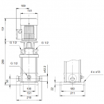 Grundfos CRT 2-4 A-P-A-E-AUUE 3x400V Многостъпална помпа от титан  🔴 Доставка по заявка - изтеглен файл