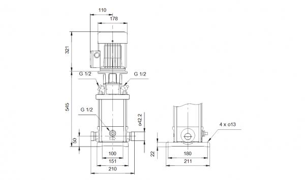 Grundfos CRT 2-18 A-P-A-E-AUUE 3x400V Многостъпална помпа от титан  🔴 Доставка по заявка