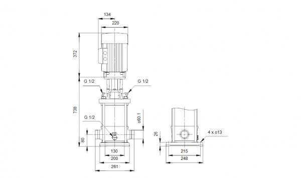 Grundfos CRT 8-12 A-P-A-E-AUUE 3x400V Многостъпална помпа от титан  🔴 Доставка по заявка
