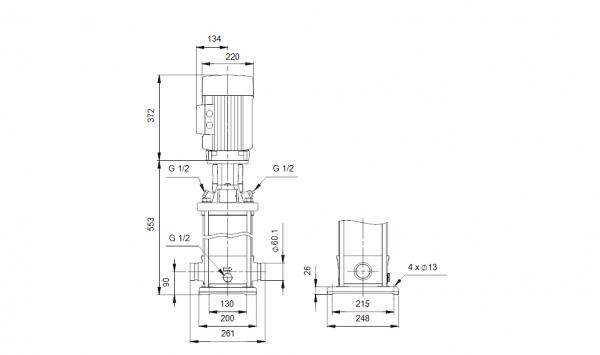 Grundfos CRT 16-4 A-P-A-E-AUUE 3x400V Многостъпална помпа от титан  🔴 Доставка по заявка