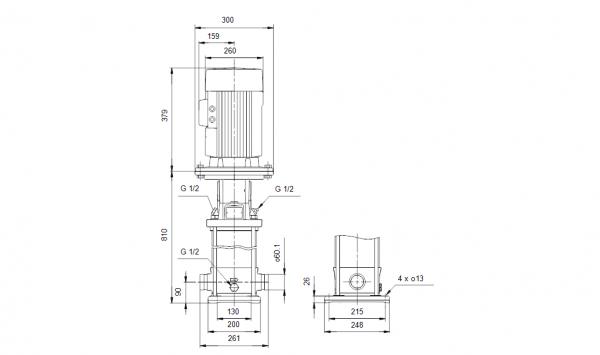 Grundfos CRT 16-8 A-P-A-E-AUUE 3x400V Многостъпална помпа от титан  🔴 Доставка по заявка